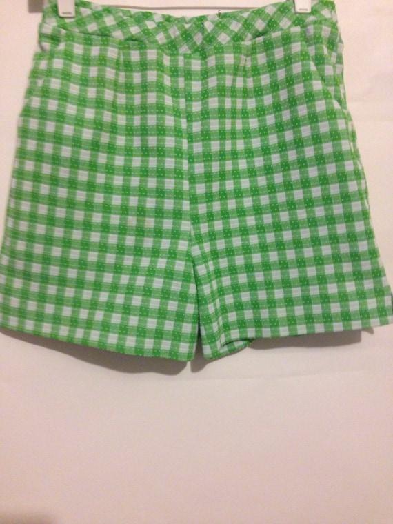 Vintage plaid walking shorts