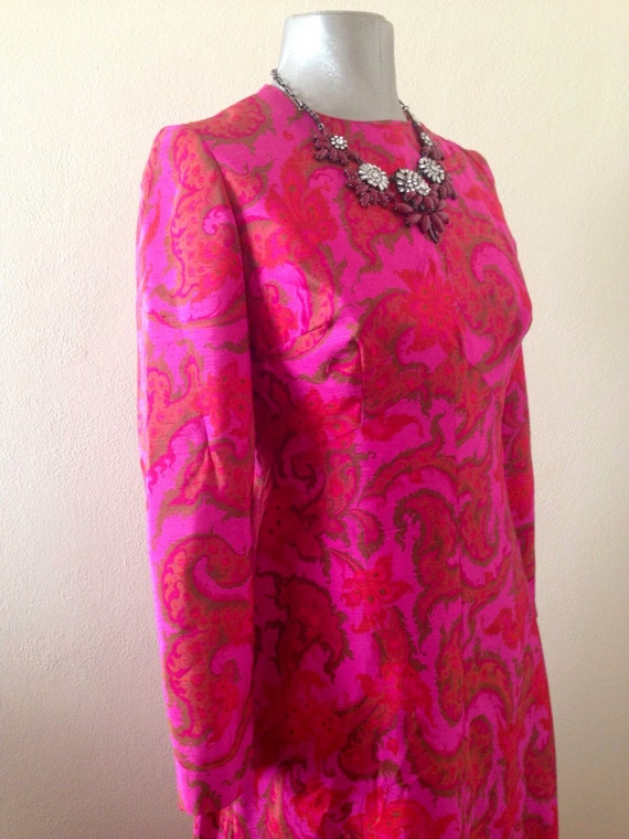Handemade 1960's Silk Maxi Lounging Dress