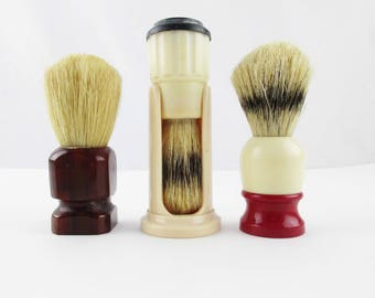 CHOICE of Shaving Brushes - Shaving Brushes With Natural Bristle - Useful - Shaving Collectibles