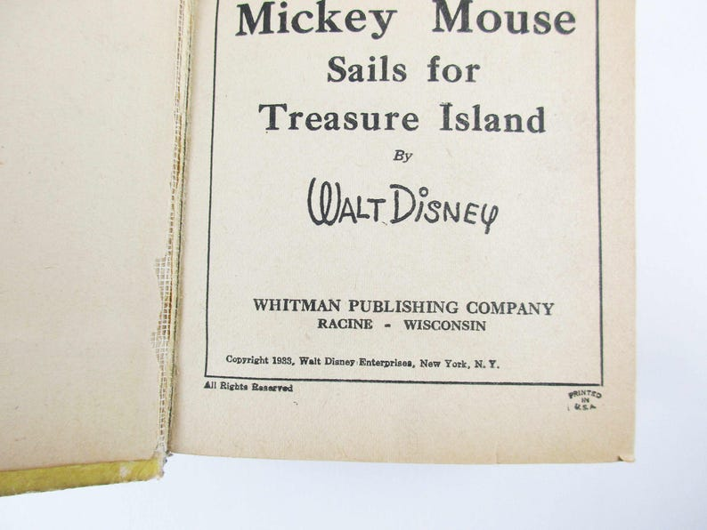 1933 'Mickey Mouse