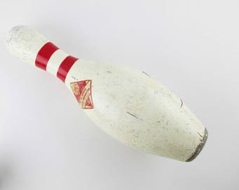 """Authentic 15"""" ABC Bowling Pin - Great Style at 15"""" Tall From ABC - Plastic Coated Wood Core - Weighted Bottom - Unique - Fun"""