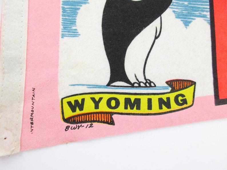 Souvenir Pennant 1960s Intermountain Brand Pennant 24 Long Pennant Vintage Wyoming Pennant /'Little America Wyoming/' Pennant