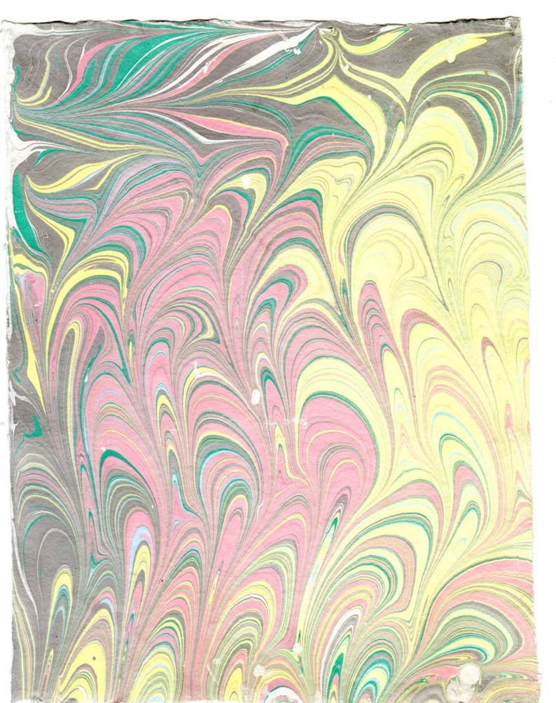 Hand Marbled Hand Made Cotton Paper 8.5 x 11  2016-7