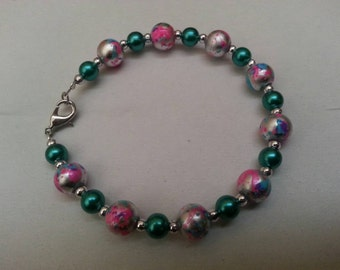 Multicolored Bracelet with Teal