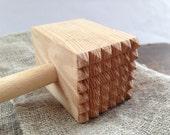 Rustic wooden mallet Farmhouse wooden hammer Primitive distressed wooden kitchen utensi
