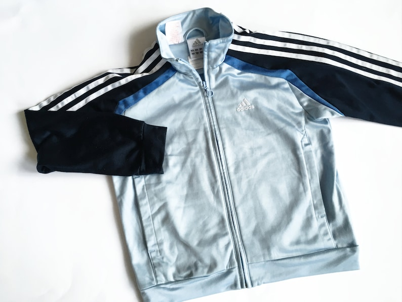 7fbc1edf95a5b Vintage Adidas Sport Jacket Blue Adidas Hipster jacket Vintage Adidas Women  Men JUNIOR Jacket Activewear Vintage sportswear