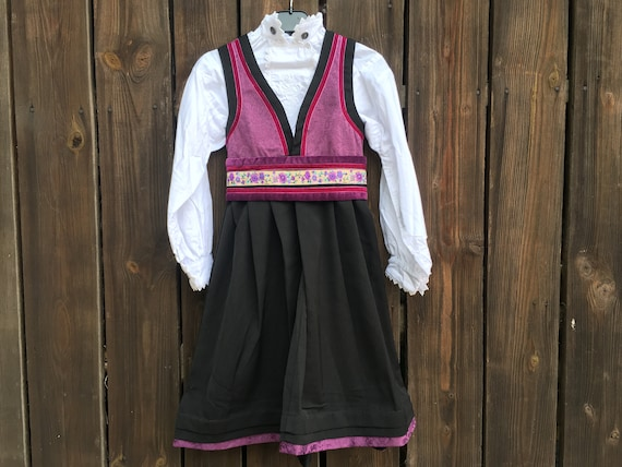 Norwegian bunad Folk Dress and blouse Traditional