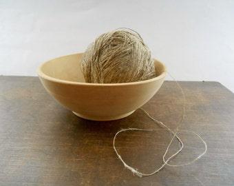 Vintage wooden bowl Brown turned wood bowl Vintage kitchen decor Scandinavian design