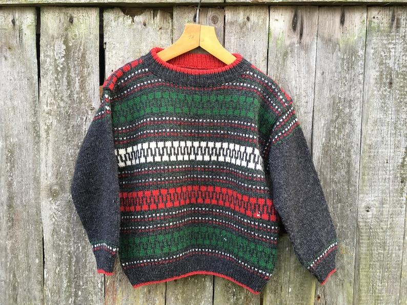 d0667fbb2 Vintage Norwegian kids sweater Scandinavian Sweater Nordic