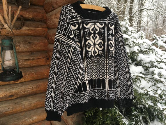 Vintage Norwegian sweater Scandinavian Sweater Nor