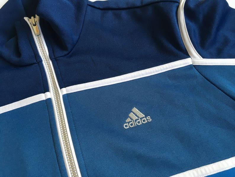 e12754a697613 Vintage Adidas Sport Jacket Blue Hipster jacket Vintage Adidas Women Men  JUNIOR Jacket Activewear Vintage sportswear