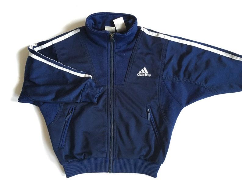 74dcf957751d1 Vintage Adidas Sport Jacket Blue Hipster jacket Vintage Adidas kids Jacket  Activewear Vintage sportswear