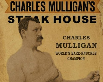 Charles Mulligans Steakhouse, Ron Swanson, Pyramid of Greatness, Parks & Rec recreation, vintage antique boxing poster, photo, poster, print