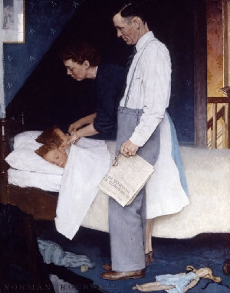 Norman Rockwell Freedom from Fear print of the painting image 0