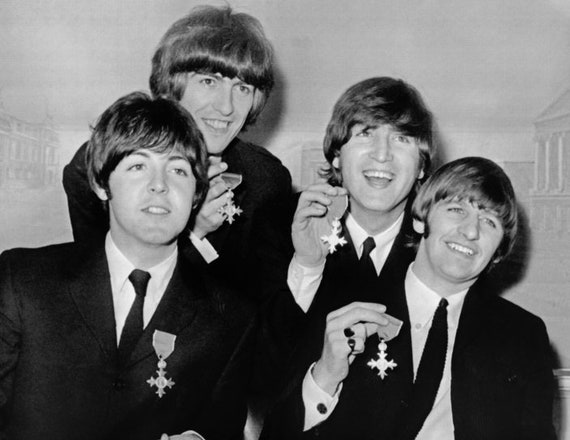 The Beatles MBE Award Medal John Lennon Paul Mccartney