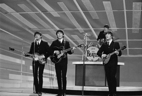 The Beatles Ed Sullivan Show John Lennon Paul Mccartney Etsy
