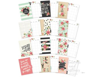 A5 Planner Inserts - Bloom - A5 Planner Dividers - A5 Planner Pages - Monthly Insert - Planner Refill - Carpe Diem Bloom Collection - 021720