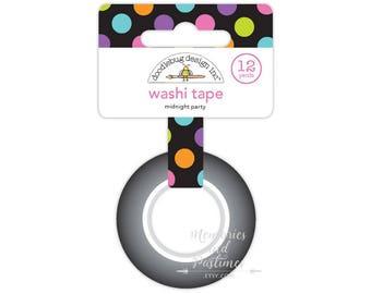 Polka Dot Washi Tape - Planner Washi Tape - Masking Tape - Scrapbooking - Midnight Party - Doodlebug - 092322