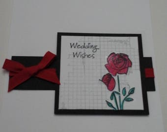 Classic Wedding Card, Roses
