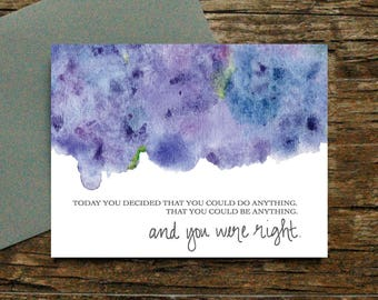 You can do anything card - Support Cancer Divorce Illness Miscarriage Heartache Bad Day Sympathy Job Loss Grief Encouragement [055]