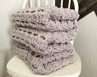 Chunky Crocheted Throw Blanket