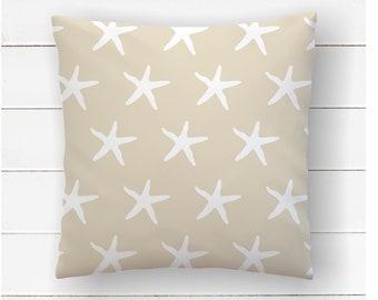 Starfish Pillow, Beach Nursery, Ocean Decor, Beach House Pillow, Sea Star, Under The Sea Theme, Coastal Living Room, Throw Pillow Covers