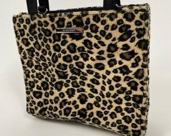 Leopard Merci Tote Bag Vintage