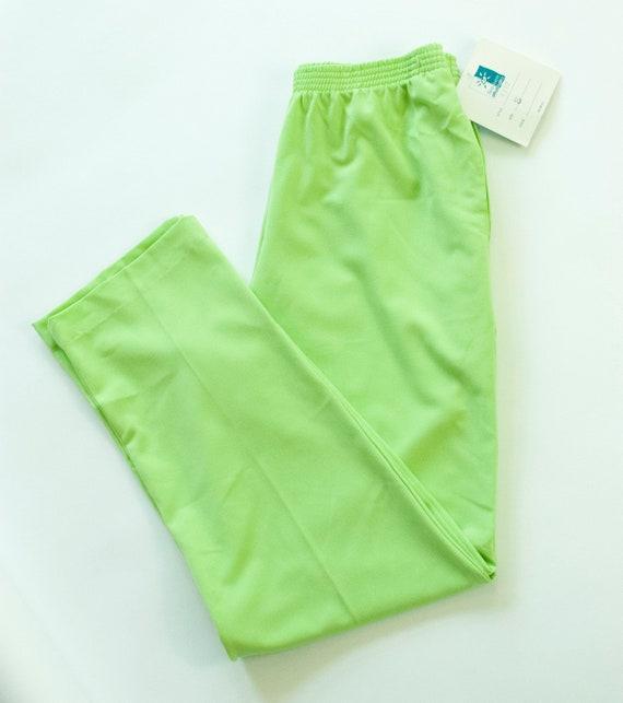 Vintage Lime Green Pants, Sea Suns by Sir Winston,