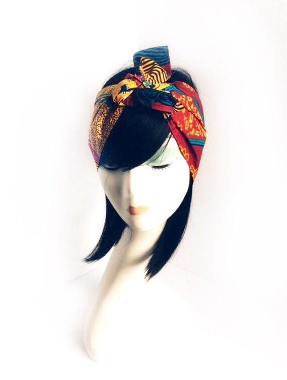 Turban women red bandana turban headband vintage turban  62f133d5101