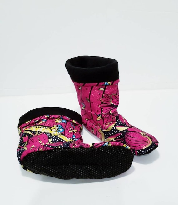 Gold pink blue slippers home shoes Gift for wedding Etnika warm boots slippers African print cozy house slippers