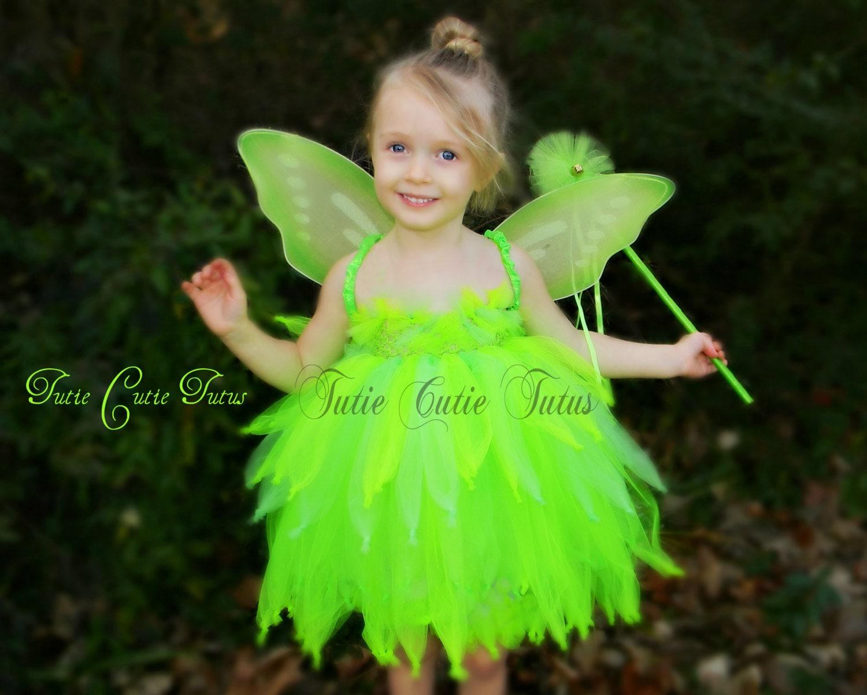 Tinkerbell Fairy Tutu Dress Costume | Etsy