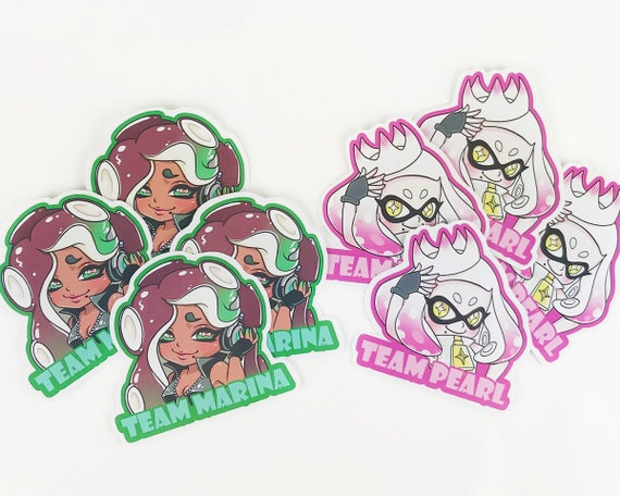 Splatoon 2 Team Marina Ou Team Pearl 3 Autocollants