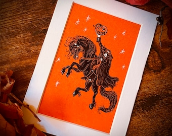 The Headless Horseman Rides Again  Sleepy Hollow Print