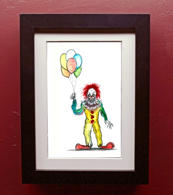 pennywise the clown archival art print etsy