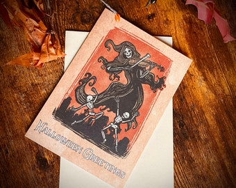 Danse Macabre Halloween Greeting Card