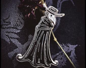 Black Plague Doctor Hard Enamel Pin