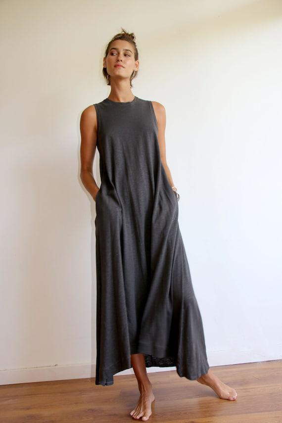 Casual Dark Grey Plus Size Summer Dress | Etsy