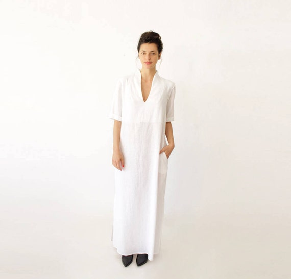 Long White Sundress for Wedding