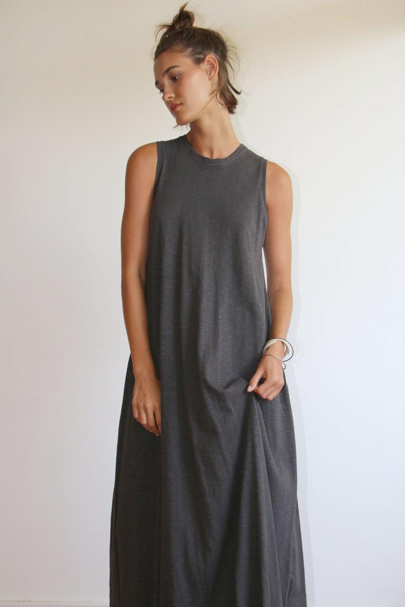 0f487026b2a Plus Size Fashion Gray Plus Size Dress Casual Tank Dress