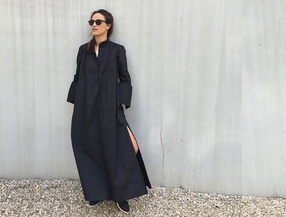 Image result for long black kaftan dress