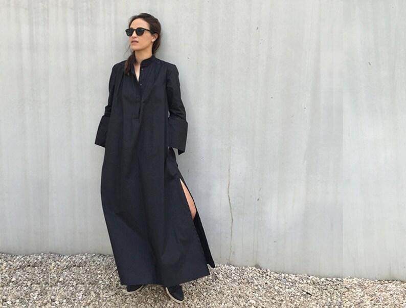 Kaftan Dress, Long Black Dress, Plus Size Clothing, Caftan Dress, Plus Size  Dress, Black Maxi Dress, Futuristic Clothing, Black Dress, Loose