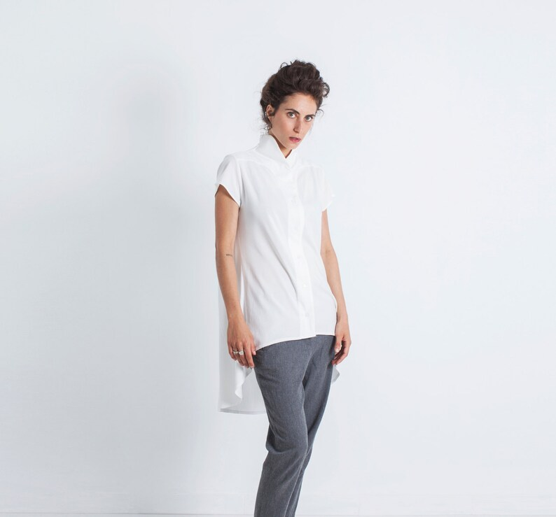 9ebd6b96f7e Plus Size Tunic Top Oversized Tunic Asymmetrical Blouse