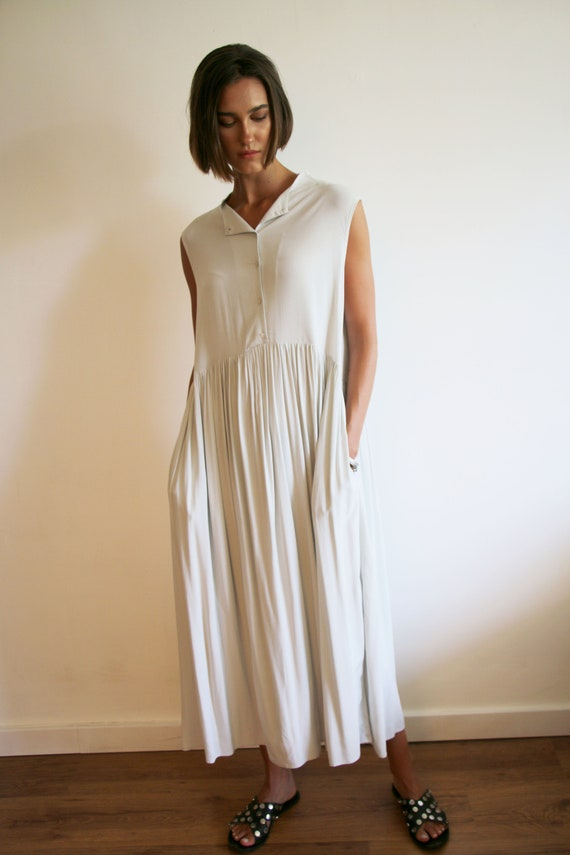 Dress Stone Plus Viscose Maxi Light Dress Grey Summer NEW Sleeveless Dress Maxi Tank Pocket Dress Dress Have Must Dress Size Daywear 4qHpwqf