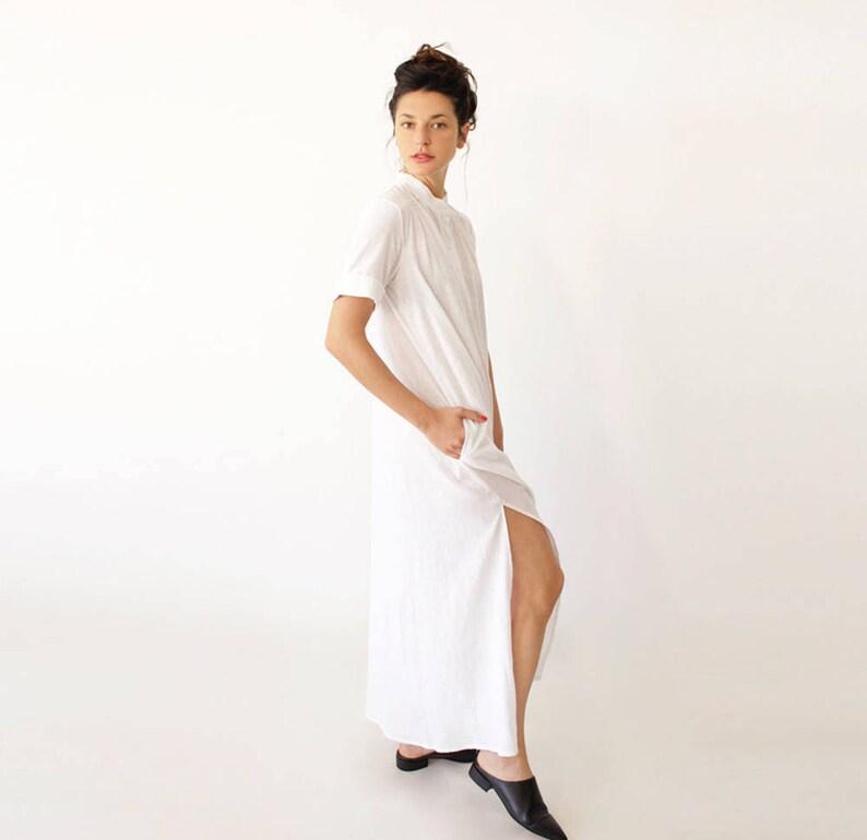 White Maxi Dress, Kaftan Dress, Plus Size Wedding Dress, Gift, Kaftan  Dress, Casual Bride Dress, Wedding Dress Alternative, Caftan Dress