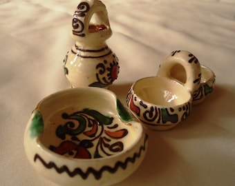 Set of 3 : Ceramic miniatures