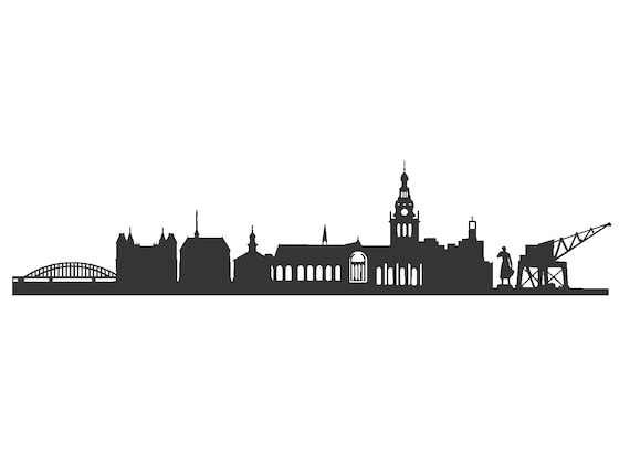 Nijmegen Wall Tattoo Skyline Decal Vinyl Sticker Grey Nijmegen Decal Sticker Wall Art Graduation Gift Gift New Appartement By 44spaces