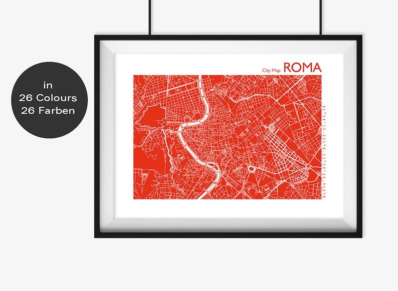 b07d9335b8074 ROME Map ROME Travel Map Rome Art Rome Street Card Rome