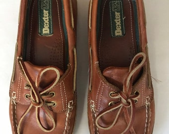 8544f187294389 Vintage Dexter Leather Loafers Boat Shoes Women s Size 9 USA