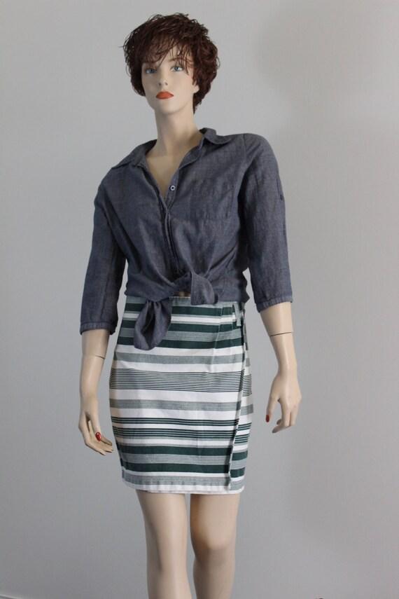 Vintage 80's Be Bop Clothing Denim Mini Skirt