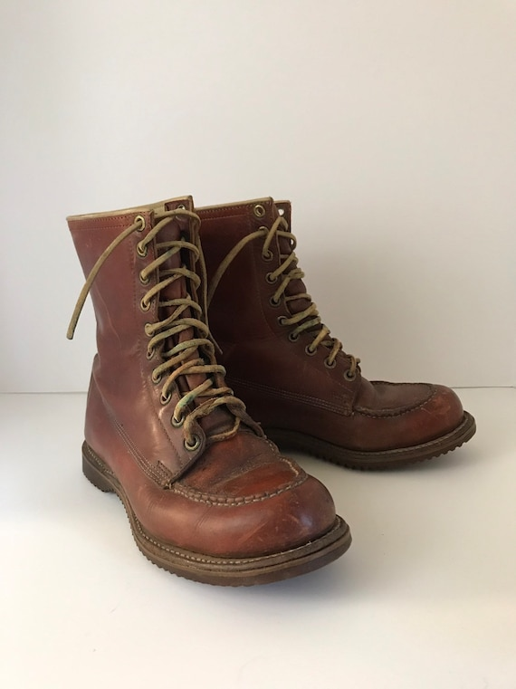 5c30ee9a43448 Vintage Weinbrenner Wood Ń  Stream Work and Hunting Boots